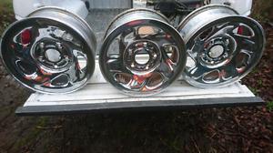 Dodge Ram chrome steel rims with caps