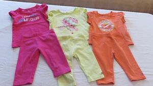 Baby Girl Tommy Hilfiger Tops & Leggings Size 6-9 Mths -See Pics