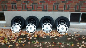 Volvo Factory steel rims with winter tires