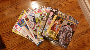 """9 issues of """"A Needle Pulling Thread"""" magazine"""