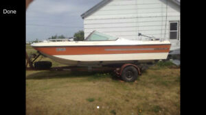 Silverline. Big boat for fishing or family fun . AS IS need fix