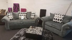 Gorgeous New DQF 3&2 Fabric Sofas ONLY £599