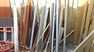 Various sizes of angle iron and square tubing for sale.