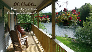 This weekend! Price reduced on Waterfront chalets with hot tubs