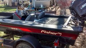 Fisher bass boat aluminum