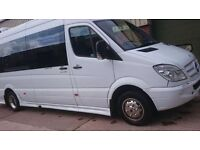 Minibus driver position