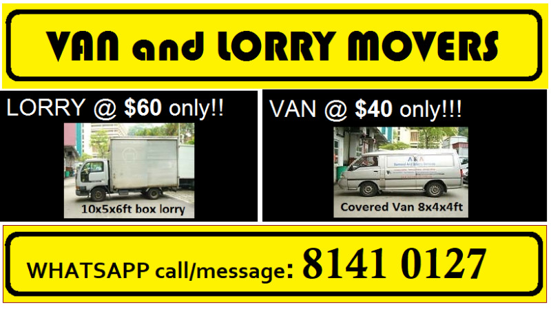 MOVERS (VAN/LORRY) TO ANY POINT IN SINGAPORE