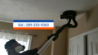 Popcorn ceiling removal quick and dust free