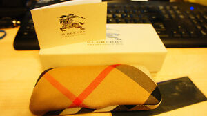 Brand new authentic Burberry Classic Nova glasses case with box