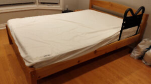 solid maple wood double size bed with mattress, Moving Sale,
