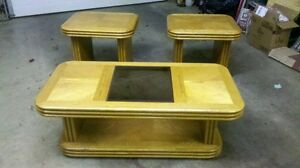 coffee table and oak end tables