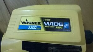 Electric Airless Wagner 2200 PSI Power Painter Wide Shot Plus