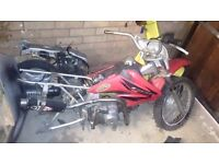 Pit bike pitbike Honda crf70 2004 c50 c90 engine compression and spark cheap project