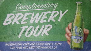 Steam Whistle Brewery Tour Tickets