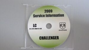 2009 Dodge Challenger service information CD from Tech Authority