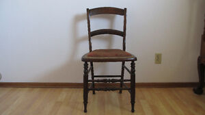 Price reduce!Antique ornately hand carved English rosewood chair