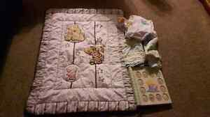 Winnie pooh comforter fitted sheet curtains baby first year book