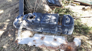Fuel tank from a 2002 gmc ext cab short box