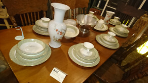 Antique royal doulton sonnet dish set. Settings priced together
