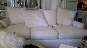White high end couch from jc perreault