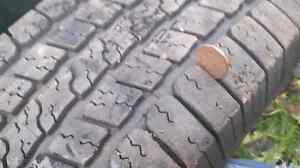 4 Goodyear M&S tires like new Prince George British Columbia image 1