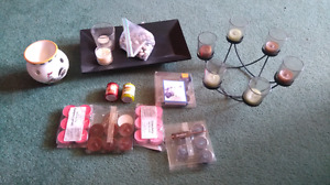 Lot of candles and accessories