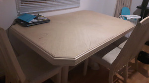 Solid white oak table and chairs