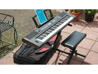 Yamaha NPV60 Keyboard with accessories