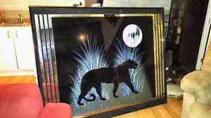 Large mirrored panther picture Windsor Region Ontario image 1