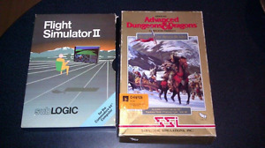 Flight Simulator 2 & Advanced D&D on 5.25 disk for Commodore 64