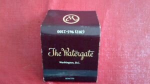 Matchbook Cover-The Watergate Hotel, Washington, D.C.