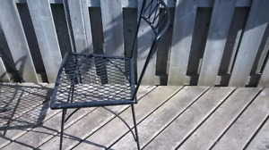 Retro bistro table and chair set