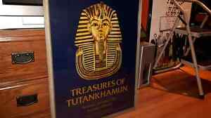King Tutankhamun framed poster.
