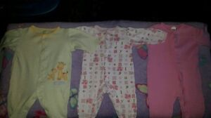 Girls Newborn to 3 Months Summer Clothing Lot