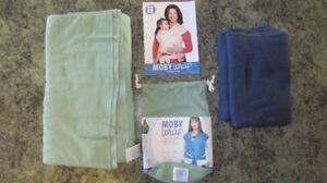 Sage Green Moby Wrap & Extra Navy Blue Wrap