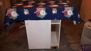 Homemade sewing or crafting table