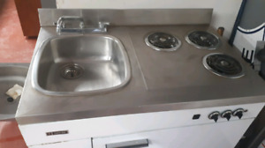 Stove fridge and sink combo   200.00