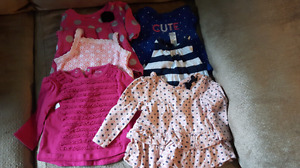 Large box of 3-6 month girl clothing