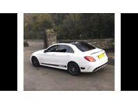 Mercedes c220 c250 amg line automatic premium plus satnav panoramic roof white Red leather