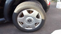 VW BEETLE RIMS for sale 205 55 R16 ( with summertires) 300 OBO