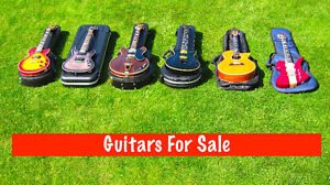 GUITARS FOR SALE . *  LIVE VIDEO *