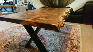 ON SALE! Live Edge Twisted Provincial Coffee Table!