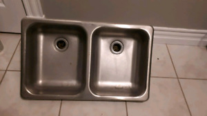 Double RV stainless steel sink Retails $225 and up  Asking $60