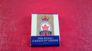 Matchbook Cover-The Royal Canadian Legion Kitchener / Waterloo Kitchener Area image 1