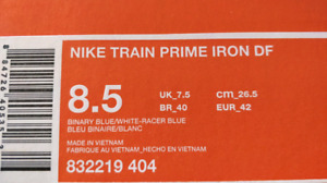 Nike Shoes ( Train Prime Iron DF) reduced to $60