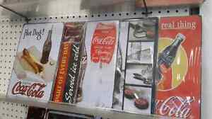 Coca cola tin signs
