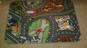 Toy cars road playmat