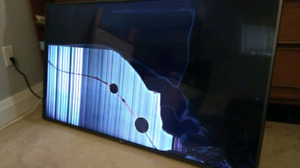 LG smart tv 55in broken screen