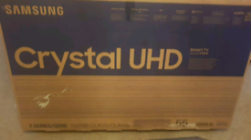 SAMSUNG 55 INCH UHD 4K SMART NEW BOXED TV CALL 07550365232
