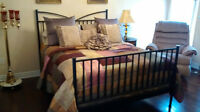 Queen iron (black) bed frame(not from IKEA) never used, just use